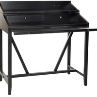 Wyatt Writing Desk W/Pull Out Black