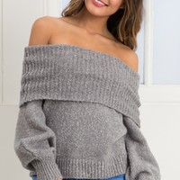 Slow Love knit in grey marle