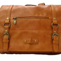 Carrot Au-12795 Satchel Style Backpack (Camel)