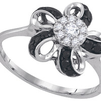 Diamond Fashion Ring in 10k White Gold 0.3 ctw