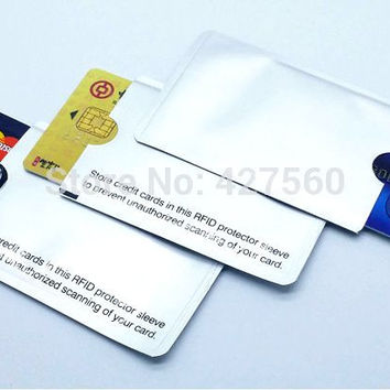 RFID Shielded CreditCard Pocket Scanning Blocker Save Your Card From Theft