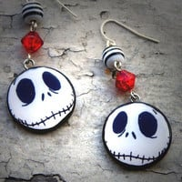 Nightmare Before Christmas Jack Skellington Earrings