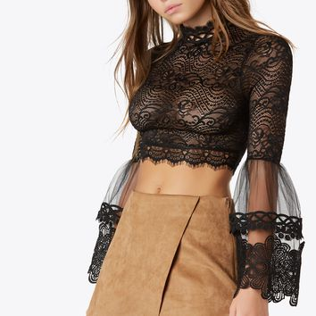 Lace Flare Top