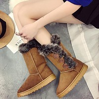 Newest Fashion Elastic Sock Chunky Flat Heels Boots
