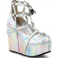 POISON-25-2 | Silver Hologram Vegan Leather [IN STOCK]
