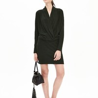 Banana Republic Womens Faux Wrap Knit Dress