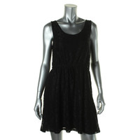 Kensie Womens Lace Sleeveless Casual Dress
