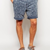ASOS Chino Shorts In Mid Length With Geo Print
