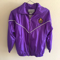 Purple Windbreaker Vintage Oversized S