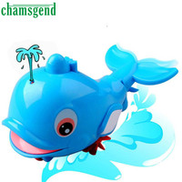 New Born Babies Swim Bule Dolphin Wound-Up Chain Small Animal Bath Toy Classic Toys Gift For Baby kids oct 21