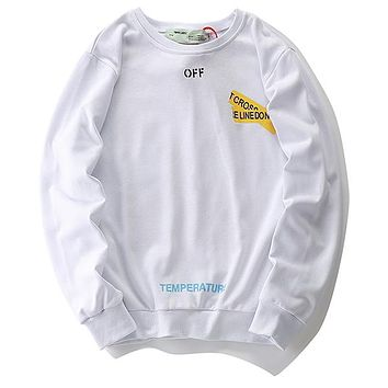Boys & Men Off-White Top Sweater Pullover