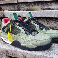 2019 Air Jordan 4 x Travis Scott Men Basketball Shoes
