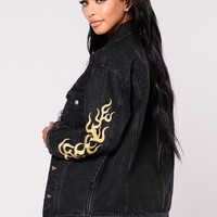 On Fire Jacket - Black