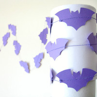 Purple Bat Garland - Purple Halloween garland, Halloween decorations, Halloween Bunting