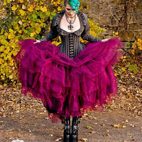 Bridal Steampunk Tulle Skirt in Intense Colors Petticoat Fairytale- Custom to order