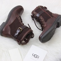 UGG Woman Leather Shoes Boots Winter Half Boots Shoes