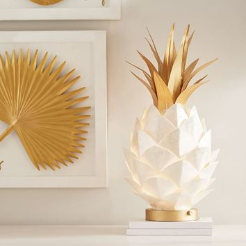 Lilly Pulitzer Capiz Pineapple Lamp