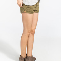 Roxy Cheeky Womens Shorts Olive  In Sizes