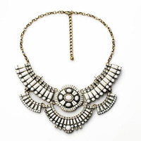 White Tribal Statement Necklace
