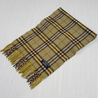 AUTHENTIC VINTAGE BURBERRY SCARF 100% LAMBSWOOL