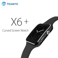 TEAMYO Smart Watch X6+ Bluetooth Connectivity Smartwatch For Iphone Android Phone Support SIM Card With Camera FM Whatsapp