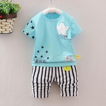 Star Pattern Kids Clothes Baby Boys Clothing Set Toddler Boy Clothing Boutique Children Kleding Kids Boys Costume Girls Outfits