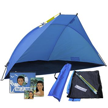 Beach Shade Shelter Mars, 2-3 Person Anti UV Tent: Enjoy The Outdoors with Comfort! Rain, Breeze & Sun Canopy for Babies, Kids & Adults. Easy Up Backyard, Park, Garden, Picnic, Sport Events Cabana