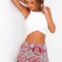 Full Of Love Shorts Red