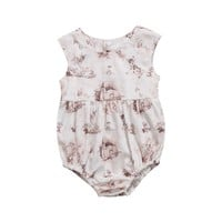 Baby Rompers Newborn Infant Baby Girl Deer Sleeveless Romper Jumpsuit Baby Clothes Cotton Outfits Summer