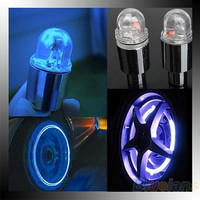 New Hot 1 Pair Motor Cycling Bike Bicycle Car Tyre Tire Valve LED Wheel Lights ( NO Battery) = 1645692164