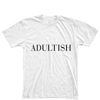 Adultish Vogue Typography Women's T-Shirt