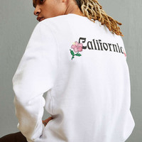 Stussy Cali Embroidered Crew Neck Sweatshirt - Urban Outfitters