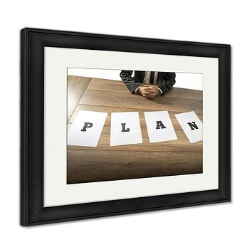 Framed Print, Business Plan And Strategy Concept
