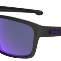 OAKLEY 9262 10 SILVER MATTE BLACK VIOLET POLARIZED POLARIZED SUNGLASSES SOLE