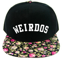 Weirdos Shrubs Snapback Hat in Floral