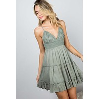 Reagan Dress (Sage)