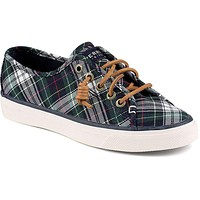 Women's Seacoast Canvas Sneaker in Tartan Plaid by Sperry
