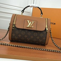 New LV Louis Vuitton Women's Leather Shoulder Bag LV Tote LV Handbag LV Shopping Bag LV Messenger Bags