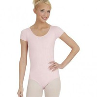 Adult Short Sleeve Leotard - XS, Ballet Pink