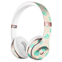 Grungy Teal Polka Dots Full-Body Skin Kit for the Beats by Dre Solo 3 Wireless Headphones