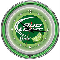 Bud Light Lime 14 Inch Neon Wall Clock