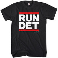 Run Detroit T-shirt - Michigan - Men XS to 4XL and Youth XS to XL - Black, Navy, Red or White