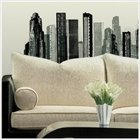 Cityscape - Peel N Stick Dorm Decor - Perfect College Dorm Decorations For Students