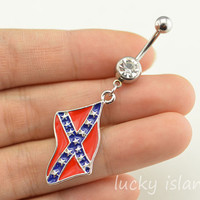 bellyring,belly button jewelry,flag belly button rings,navel ring,piercing belly ring,friendship bellyring