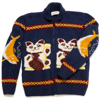 Lucky Cat Maneki Neko Sweater