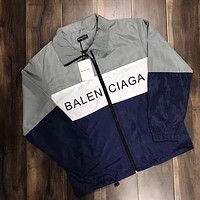 ''BALENCIAGA'' Women Men Fashion Zipper Cardigan Sweatshirt Jacket Coat Windbreaker Sportswear I