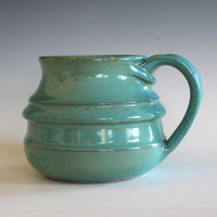 Pottery Mug, 19 oz, unique coffee mug, handmade cup, handthrown mug, stoneware mug, wheel thrown pottery mug, ceramics and pottery