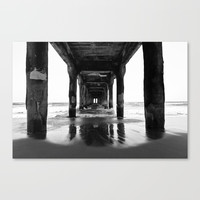 Manhattan Beach Pier Canvas Print by boelterdesignco