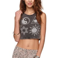 Afends Symbolical Muscle Tank - Womens Tee - Black - SIZE 11