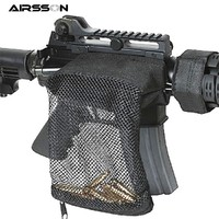 Airsoft Hunting Zipper Brass ar15 Bullet Catcher Bag Pouch Tactical Military Molle Rifle Gun Mesh Pouch Hunting Accessories